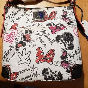 NWT Disney Dooney and Bourke Hearts and Bows Cross